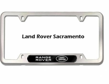 2014 land rover range rover sport license plate frames rr logo brushed silver finish