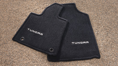 2014 Toyota Tundra CrewMax Carpet Floor Mats - Logo - Set Of 3 - Black from A-1 Toyota