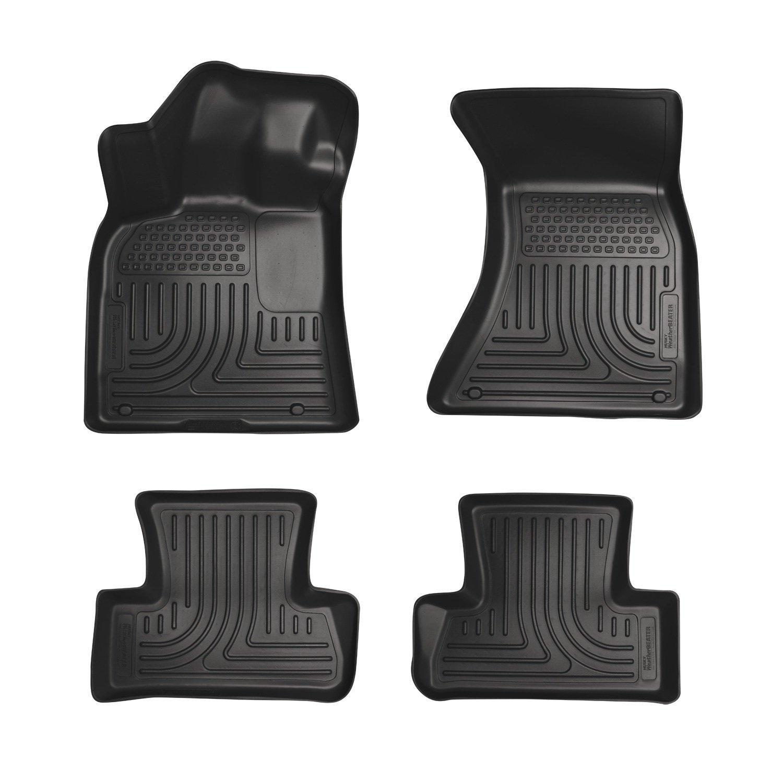 Rubber floor mats for glk350 - 2014 Chrysler 300 Floor Liner 1 2row Foot Well Coverage Black From